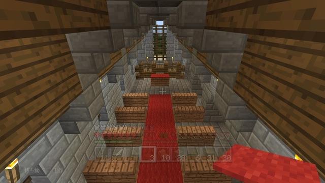 拝廊上から見る身廊