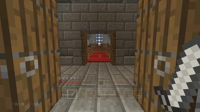 村の新教会_拝廊越しに見る身廊